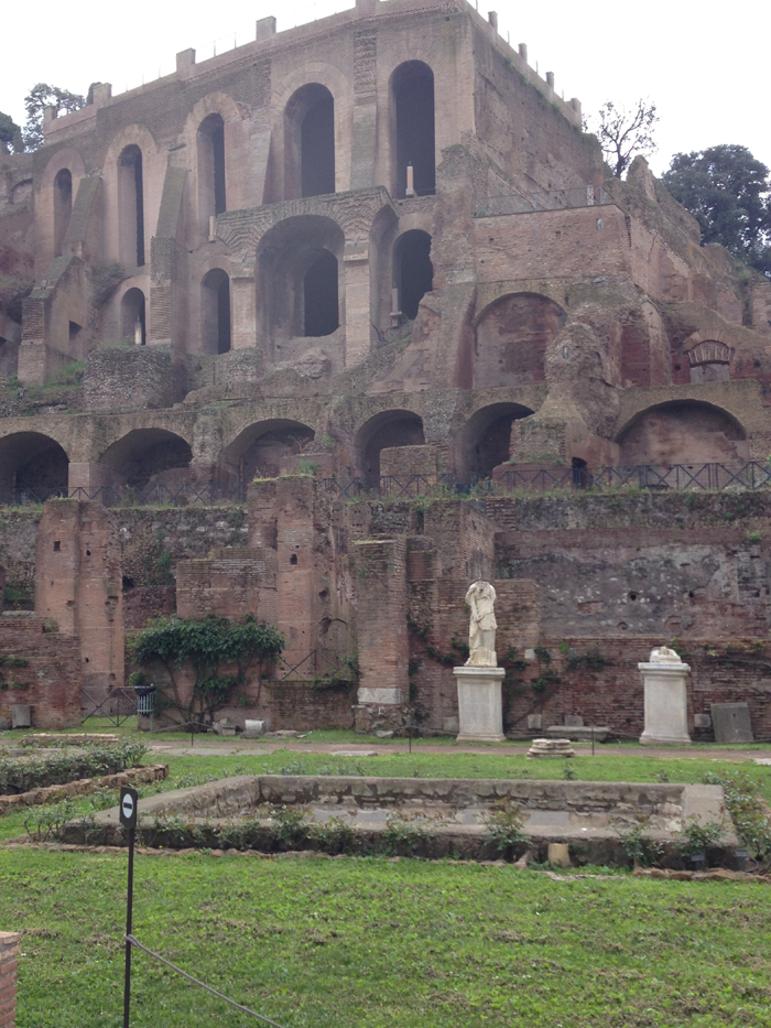 Temple of the Vestal Virgins at the Roman Forum.