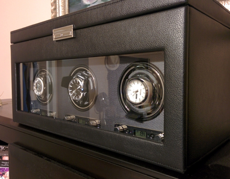 winder weekend reviewing the wolf meridian triple watch winder