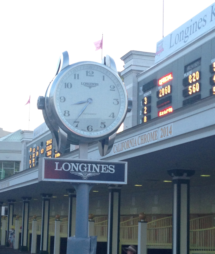 Longines clocks keep the time at Churchill Downs.