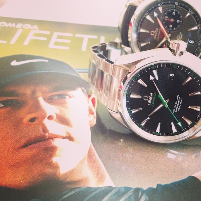 Omega Aquaterra GMT and Aquaterra golf are Rory McIlroy's watches of choice.