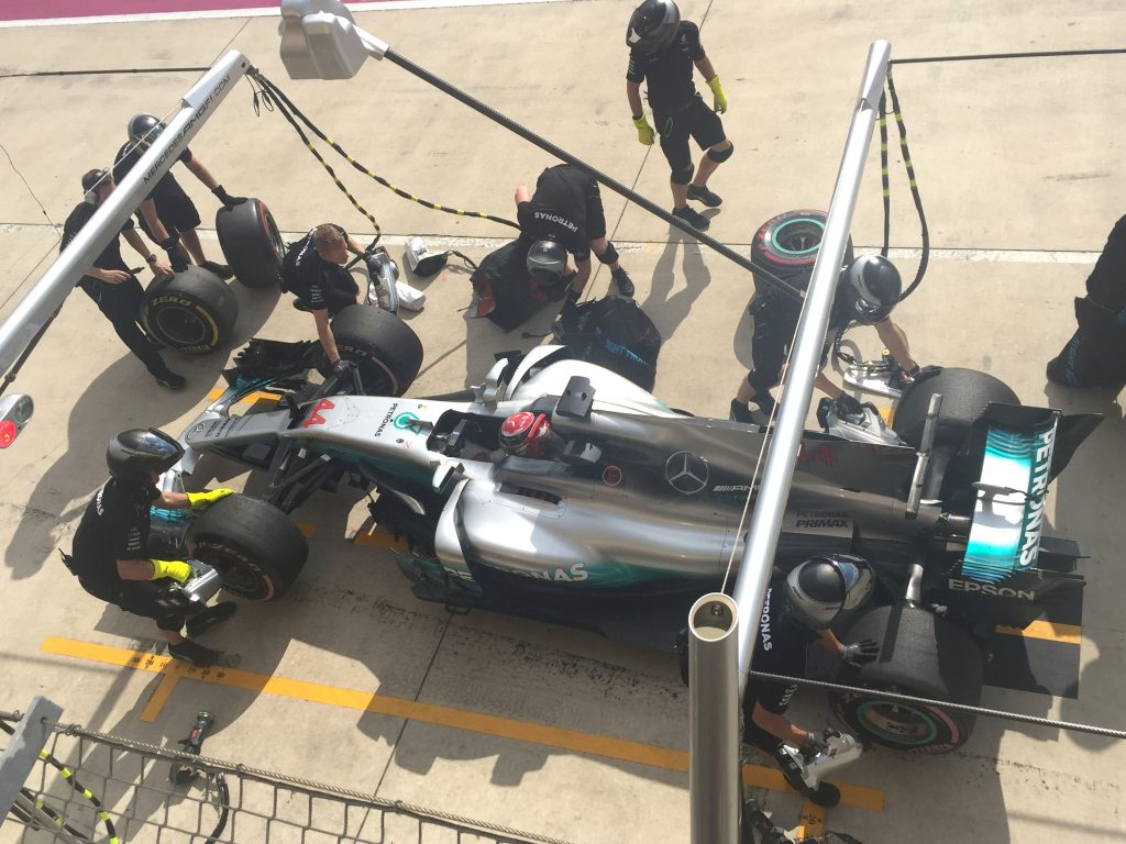 Mercedes-AMG Petronas F! racing team at Circuit of the Americas (COTA) for the US Grand Prix 2017.