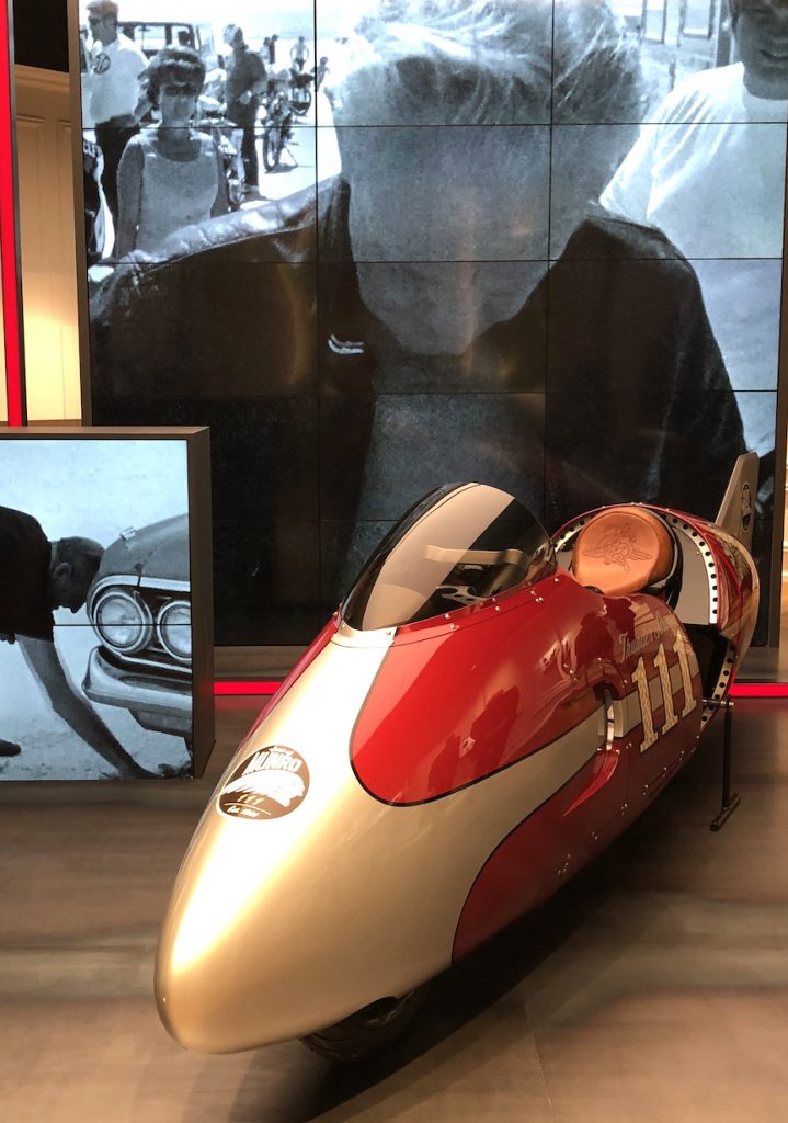 Baume & Mercier's recent partnership with Indian Motorcycles transformed the brand's SIHH 2018 booth this year into a homage to Burt Munro speed racer and record maker, as well as to Indian motorcycles.