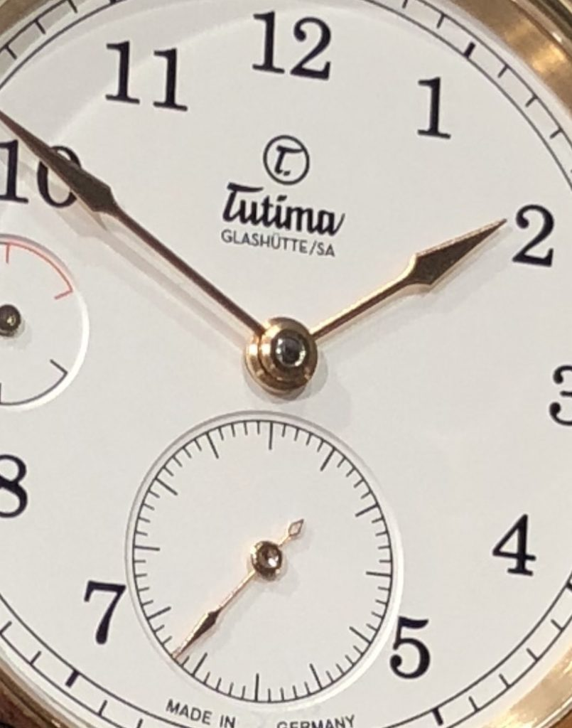 Tutima Patria Power Reserve watch has an additional 34 parts for the complex indication.