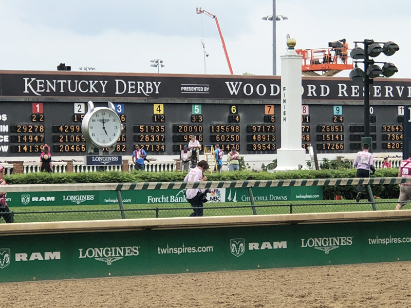 The 144th Kentucky Derby was run at Churchill Downs in Louisville Kentucky on May 5, 2018.
