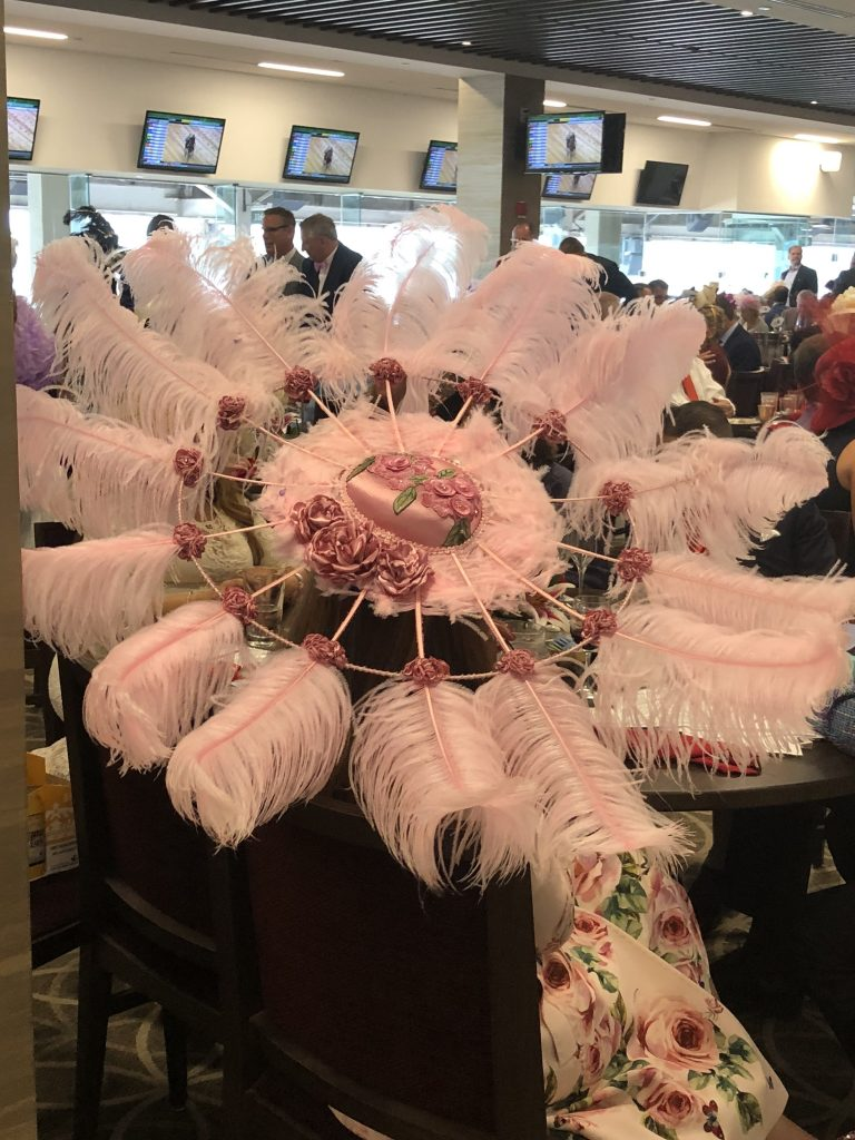 Hats at the Kentucky Derby: the bigger, the better.