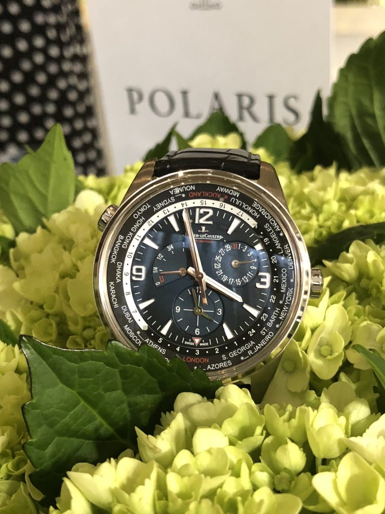 Jaeger-LeCoultre Polaris Geographic World Time watch offers geographic, world time functions.