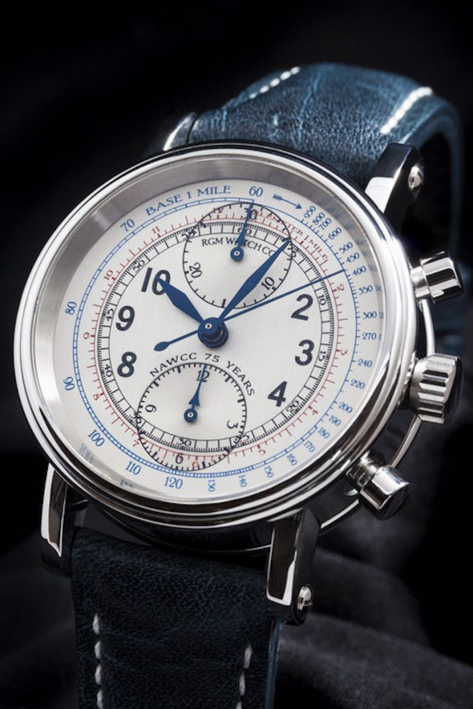 Bidding time is almost up for the RGM chronograph specially made to celebrate the 75th anniversary of the NAWCC.