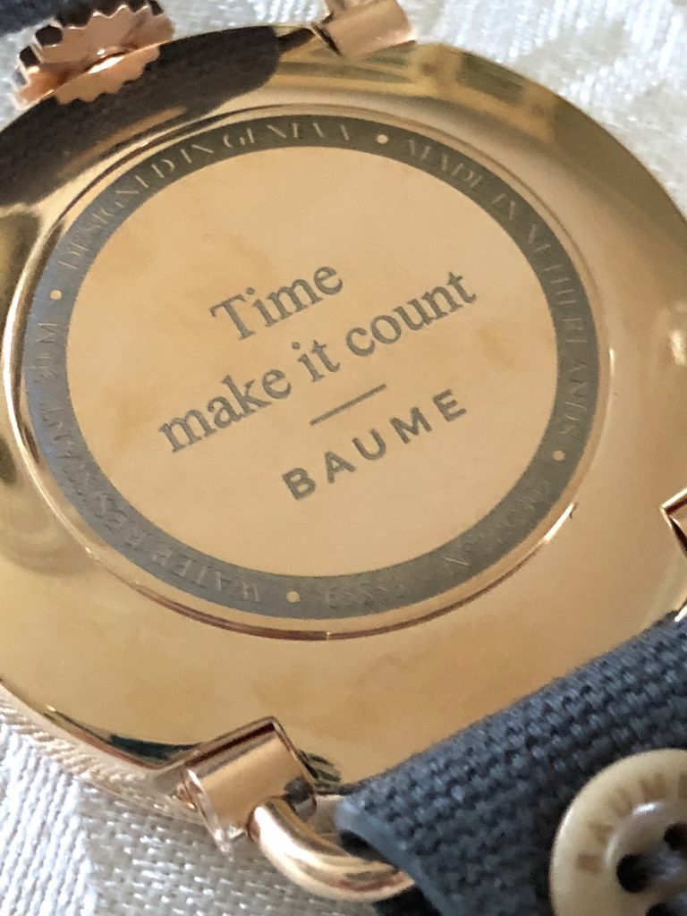 You can even personalize the back of your Baume watch.