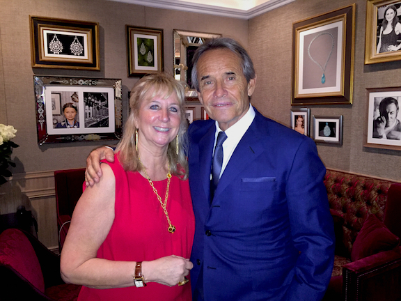 Roberta Naas, founder of ATimelyPerspective.com, with Jacky Ickx.