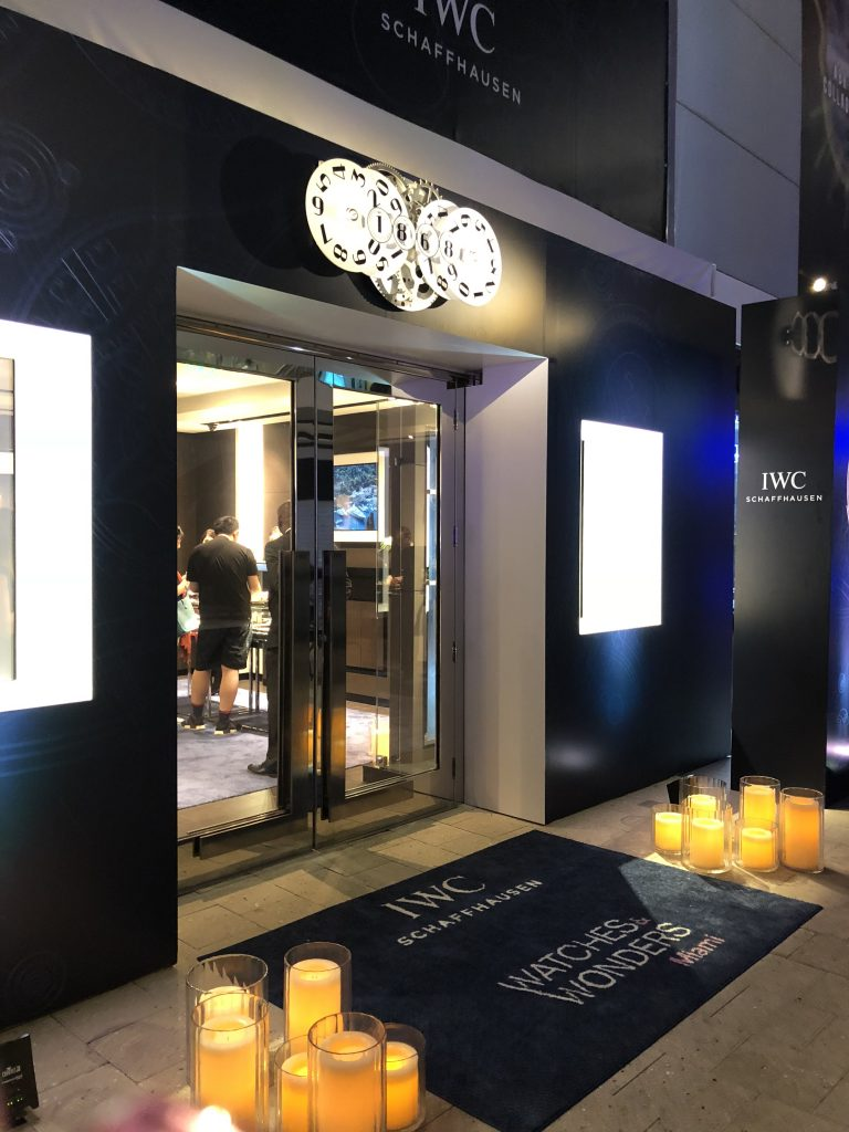 IWC boutique at Miami Design District during Watches & Wonders Miami.