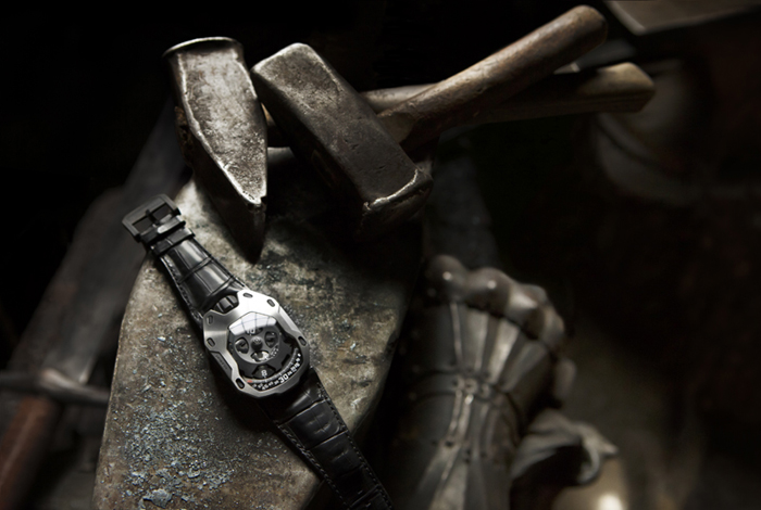 The watch takes inspiration from the medieval armor knights wore.