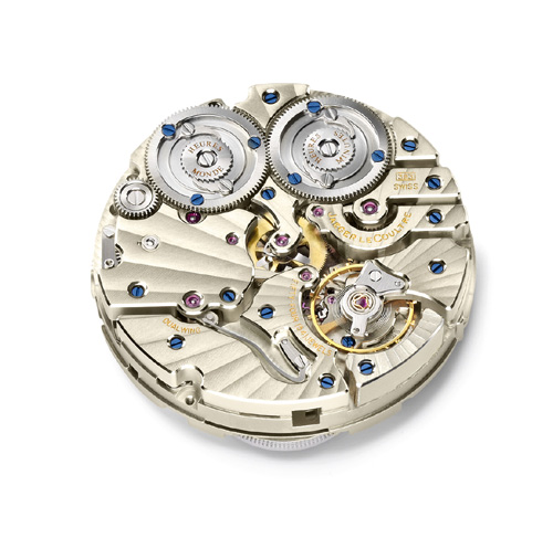 The Calibre 383 in this Duometre Unique Travel Time is just 2 parts shy of housing 500 components.