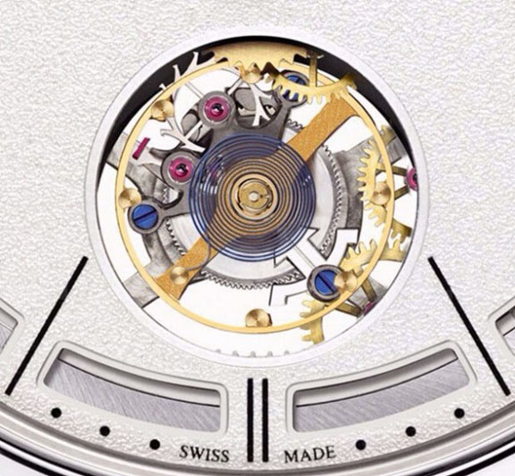 The new tourbillon escapement is also patented.