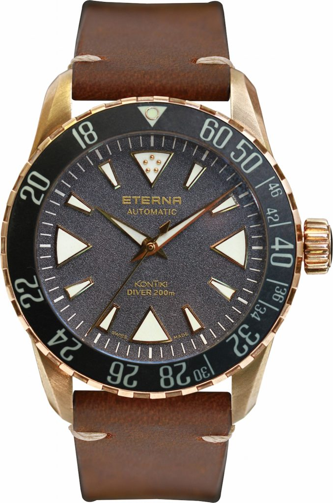The Eterna KonTIki Bronze Manufacture watch is highly affordable and houses a Manufacture movement.