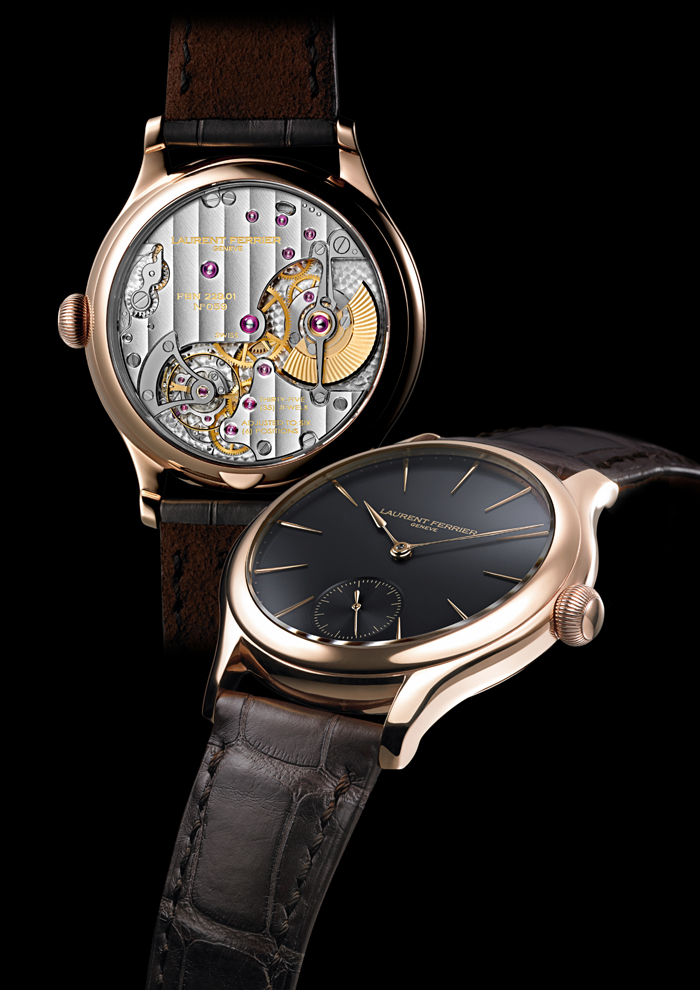 The Galet Micro-Rotor is offered in several different colored Grand Feu enamel dials.