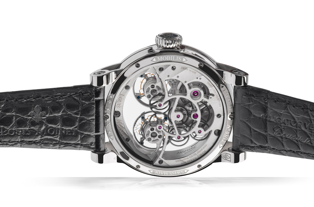 Louis Moinet Mobilis has two patents pending on the movement that was developed by the brand with Tec-Ebauches