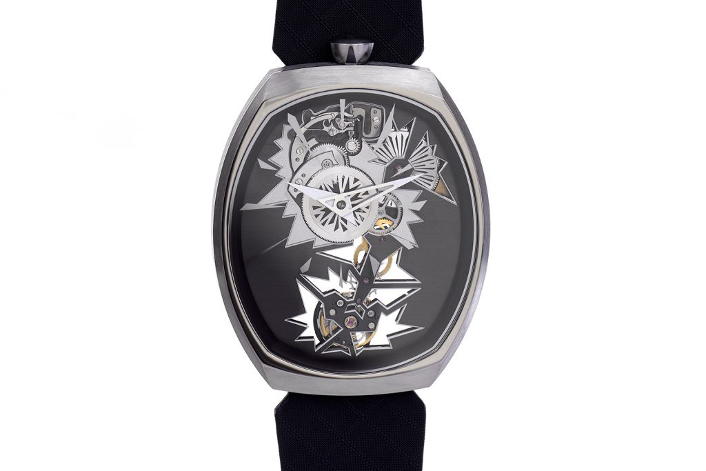 The first Fiona Kruger Chaos collection watches are the Mechanical Entropy skeleton offered in two color ways.