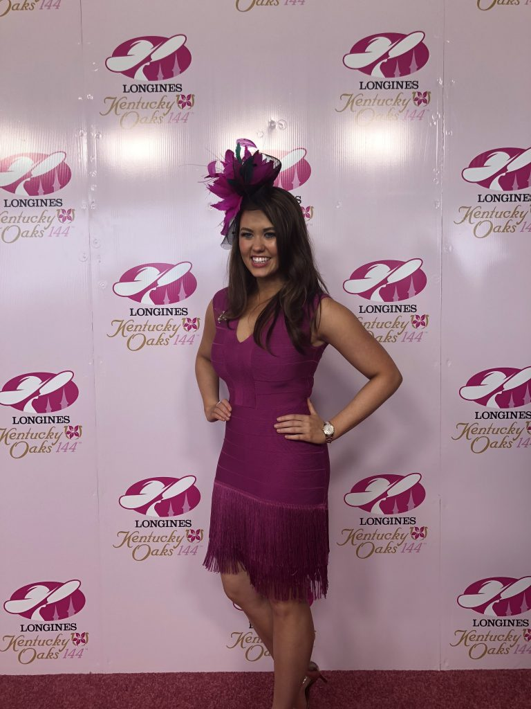 Miss America was one of the judges of the Longines Prize for Elegance fashion show at Churchill Downs.