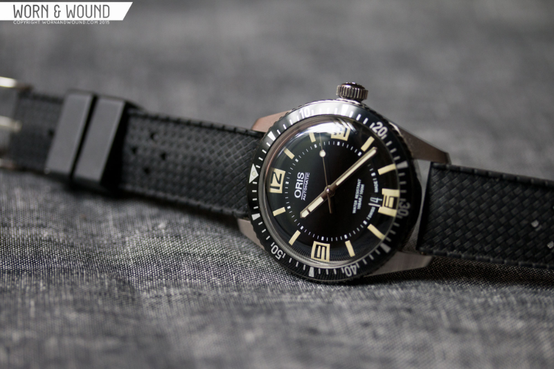 Oris Divers Sixty Five. Oris is a partner sponsor of the Worn & Wound Wind-Up show.