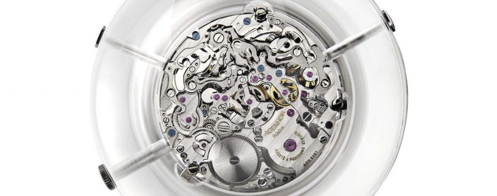 Thanks to a 488-part movement, the Agenhor and HEAD designed Carpe Deim Clock features five rotating discs that display the chronograph's time, with the hours read off through the sphere's transparent section – the remainder concealed by the sand-blasted outer finish.