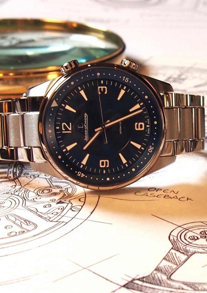 A steel bracelet version of the Jaeger-LeCoultre Polaris Memovox alarm watch is also available.