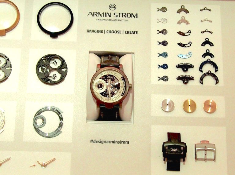 The Armin Strom Configurator lets you design your own precision mechanical watch.