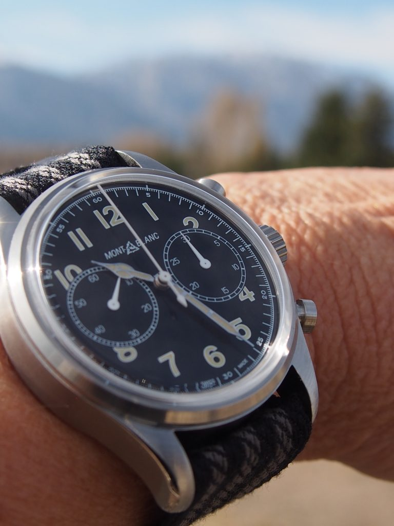 Montblanc 1858 Automatic Chronograph on location in Jackson Hole, Wyoming (Photo: R. Naas)