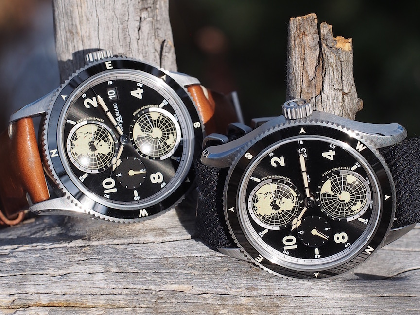 The steel version of the Montblanc 1858 Geosphere. (Photo: R. Naas)