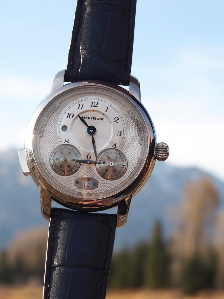 Each of the new Star Legacy watches from Montblanc (Pre-SIHH) feature slimmed down Arabic numerals, and other refined accents, and are certified for the brand's 500-hour testing.