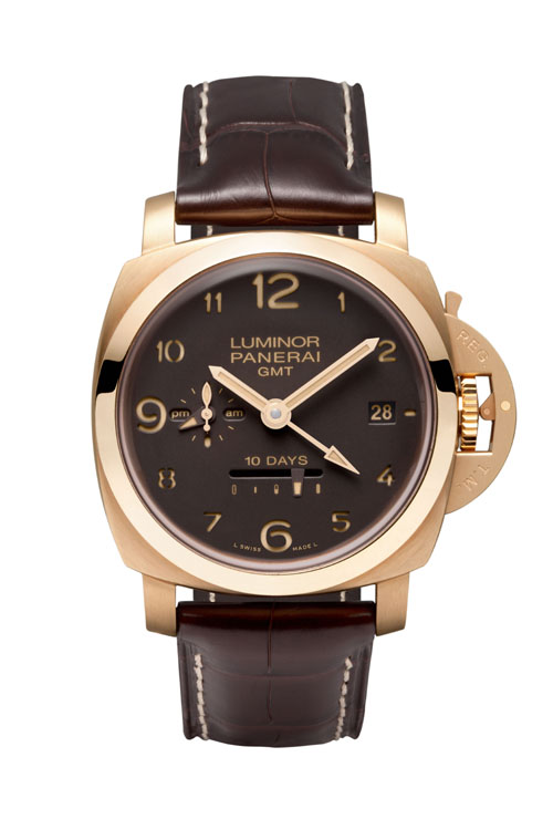 Panerai PAM 00487 Aspen Boutique Special 10 Days GMT in Oro Roso.