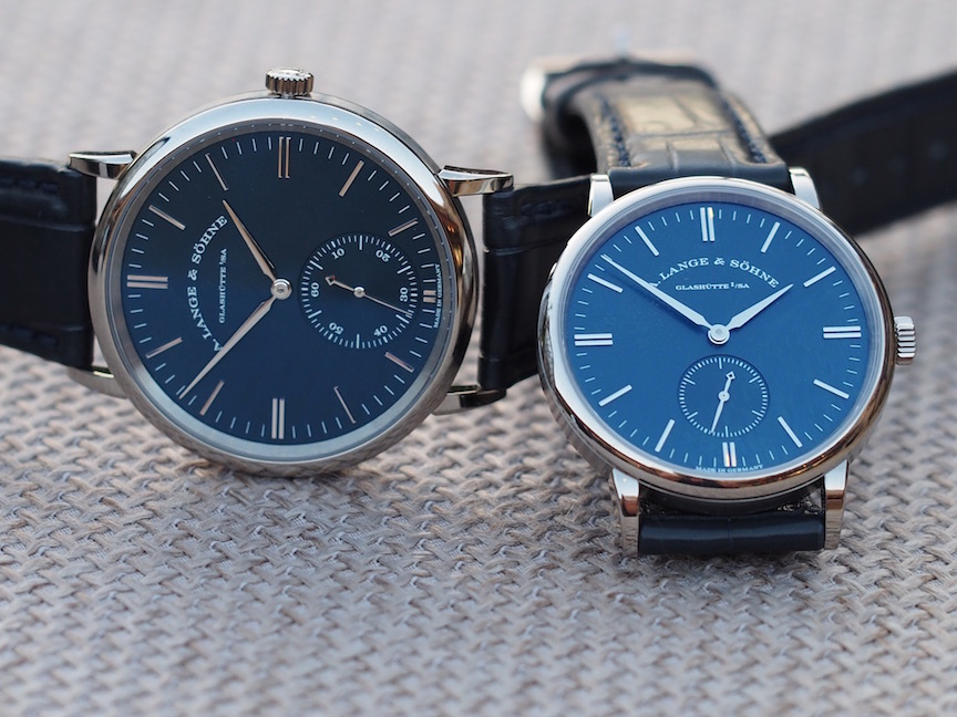 A. Lange & Sohne Saxonia Automatic and Saxon with blue dials