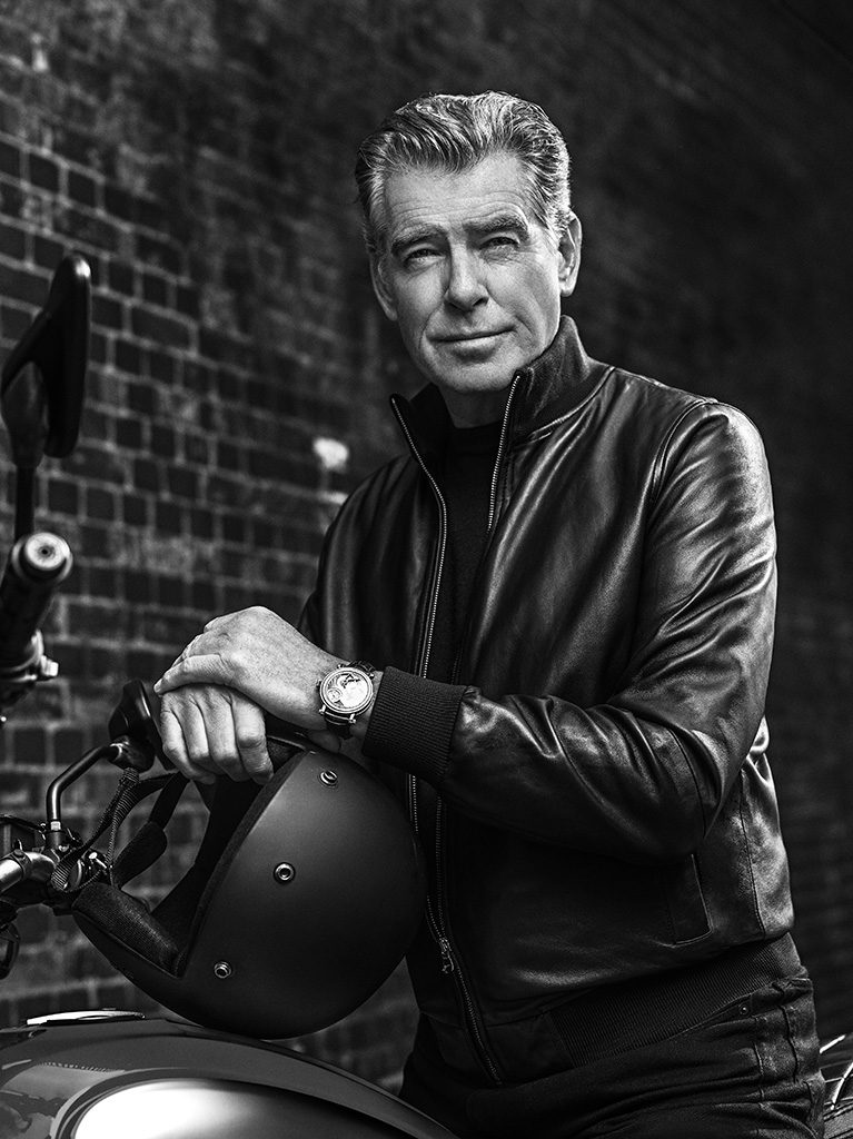 Pierce Brosnan was photographed by Marco Grob for his new Speake-Marin ambassador images.