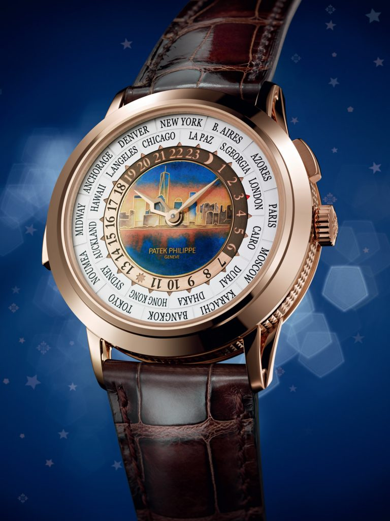 Patek Philippe Ref. 5531R World Time Minute Repeater chimes time in 24 time zones.