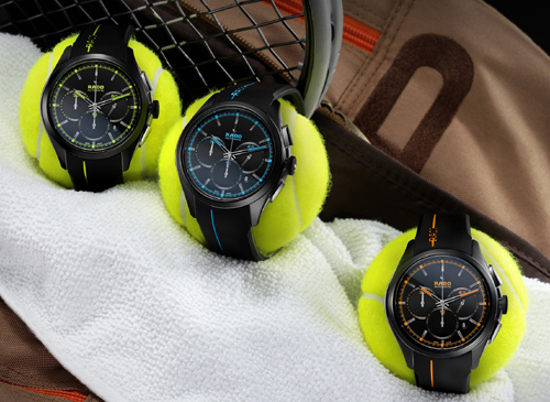 Rado HyperChrome Court series, inspired by the different types of courts on which tennis is played.