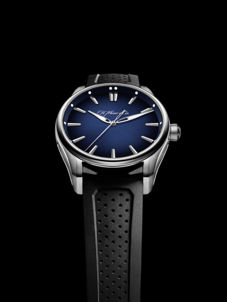 H. Moser & Cie Fume blue dial that inspired the Funky blue guitar color for U2's Adam Clayton.