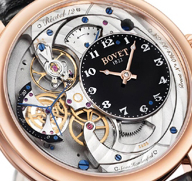 A close up look at the Bovet Recital 12 Monsieur Dimier