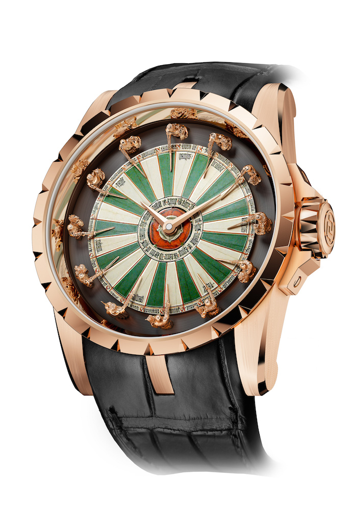Roger dubuis creates a virtuous timepiece with the for 12 knight of the round table