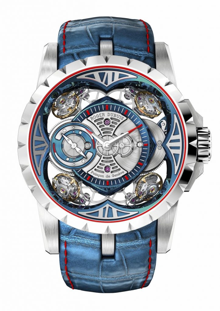 SIHH 2017:  Roger Dubuis Unveils Near $400,000 Excalibur Quatuor MicroMelt® and Spider Skeleton Automatic