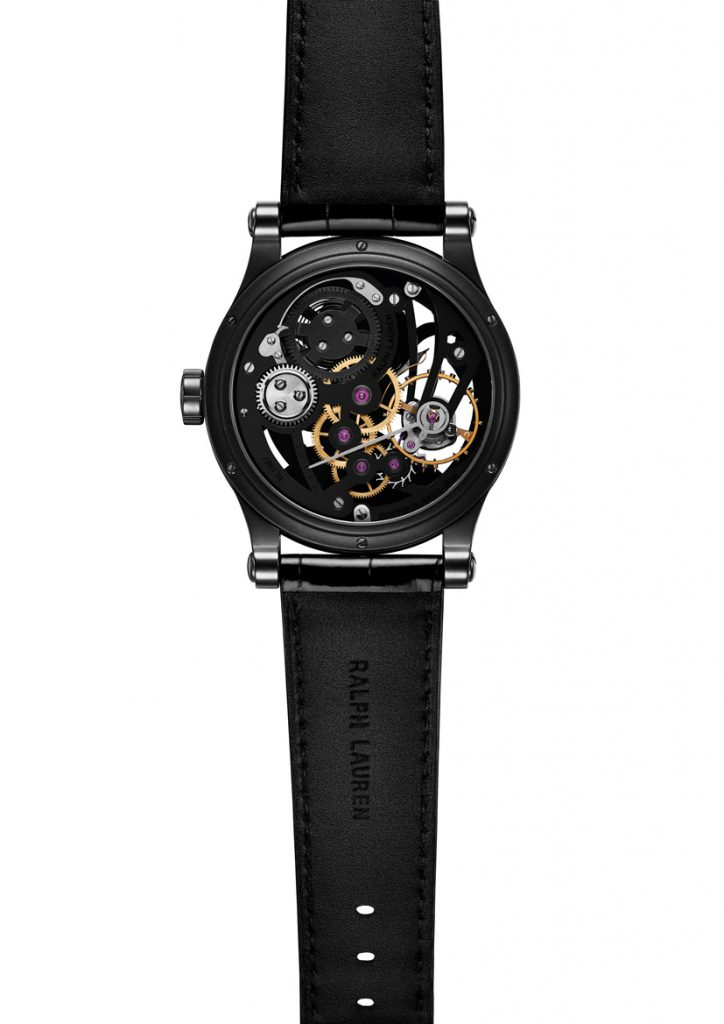 The RL 1967 movement housed in the Ralph Lauren Automotive Skeletong watch has 156 components.