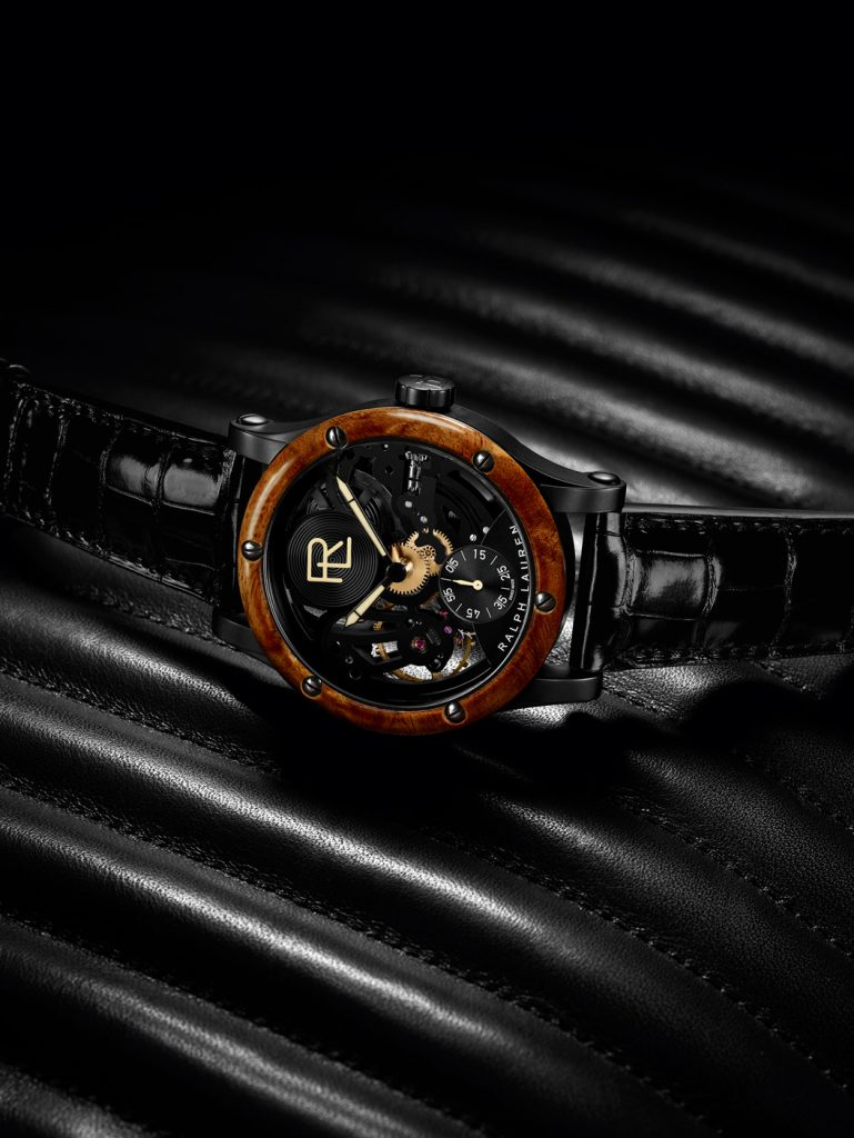 The Ralph Lauren Automotive Skeleton watch is the brand's first fully open-worked piece.