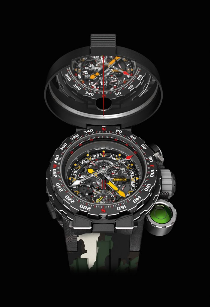 Richard Mille RM25-01 Tourbillon Adventure watch made with Sylvester Stallone,