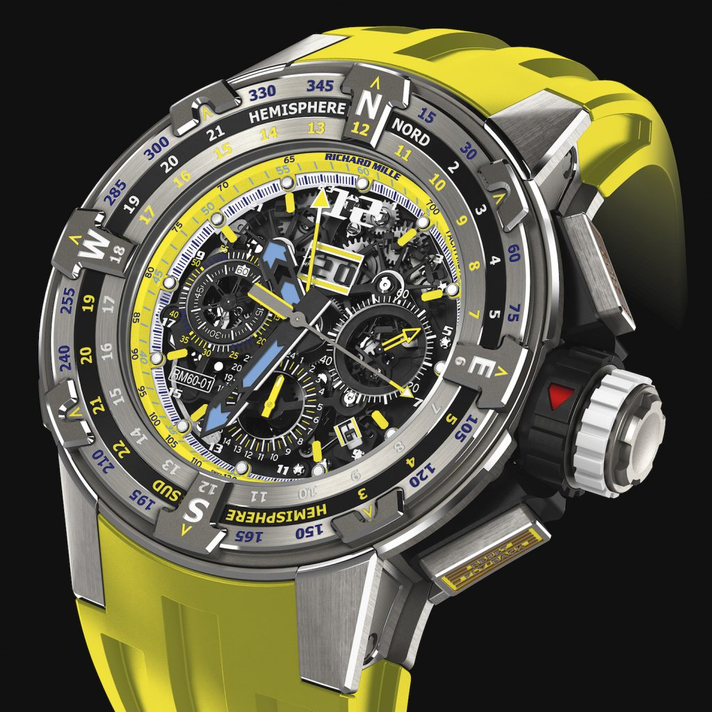 Richard Mille RM 60-01 Les Voiles de St. Barth 2018 Automatic Flyback Chronograph Regatta watch.