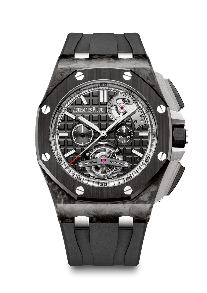 Audemars Piguet Royal Oak Offshore Selfwinding Tourbillon Chronograph with peripheral platinum oscillating weight