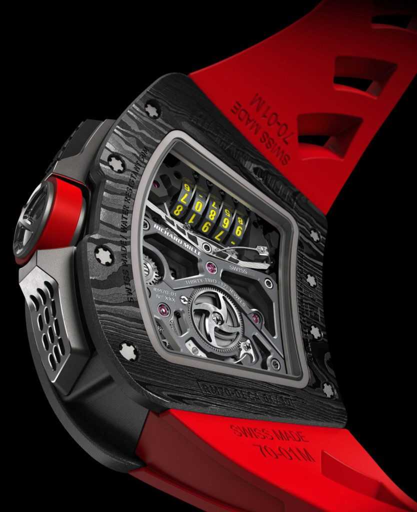 The Richard Mille RM 07-01 Tourbillon Alain Prost watch retails for $815,500.