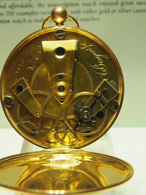 Souscripton watch, gold case, enamel dial. Sold January 1820 for 906 francs.