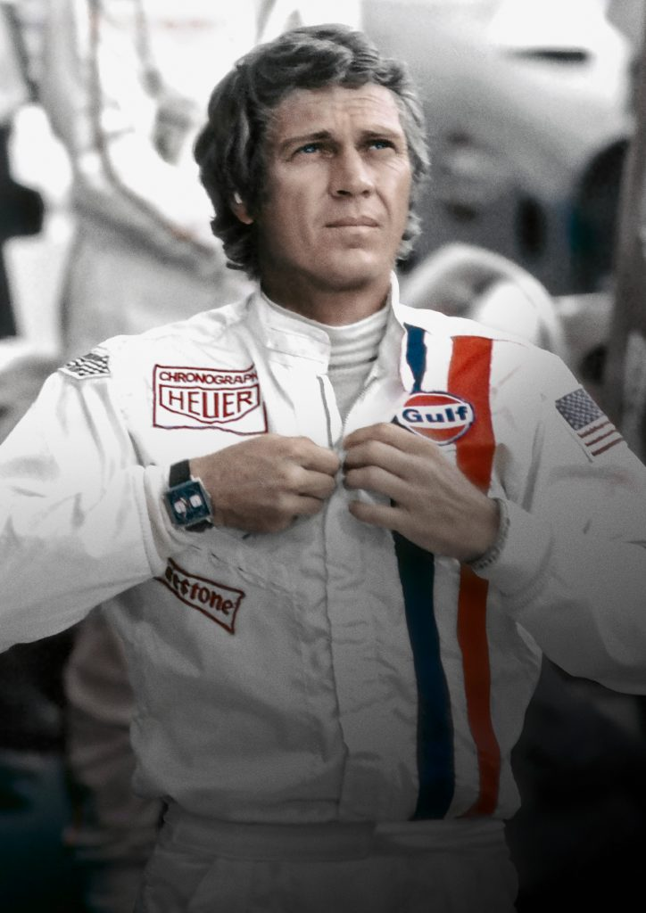 Steve McQueen wore a TAG Heuer in the famed movie Monaco in 1971.