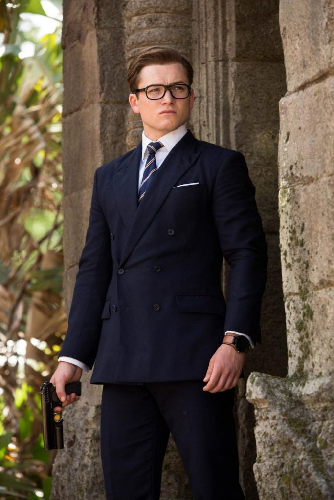 "Taron Egerton wears a TAG Heuer Connected Watch in the Twentieth Century Fox movie, ""Kingsman: The Golden Circle"""