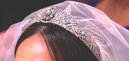 The Tiara worn by Megan Markle features a center brooch first made in 1893.