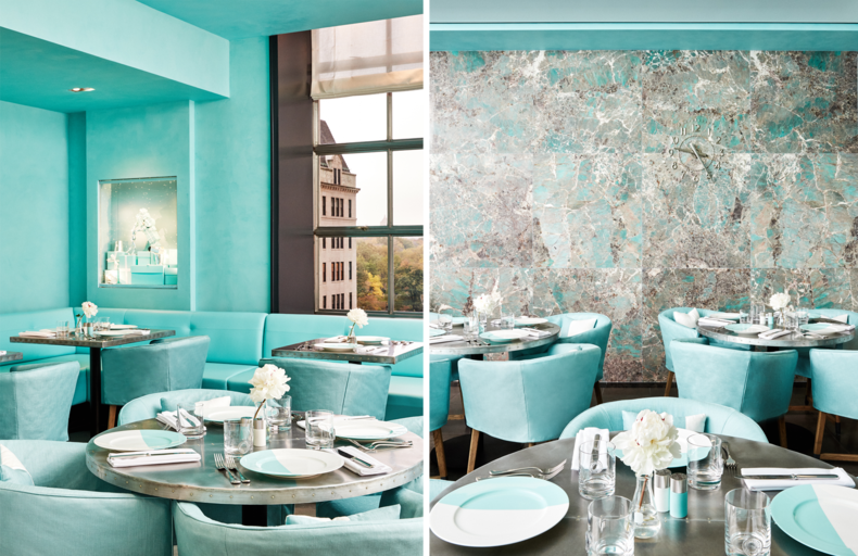 The Blue Box Cafe at Tiffany & Co.where one can experience Breakfast at Tiffany's