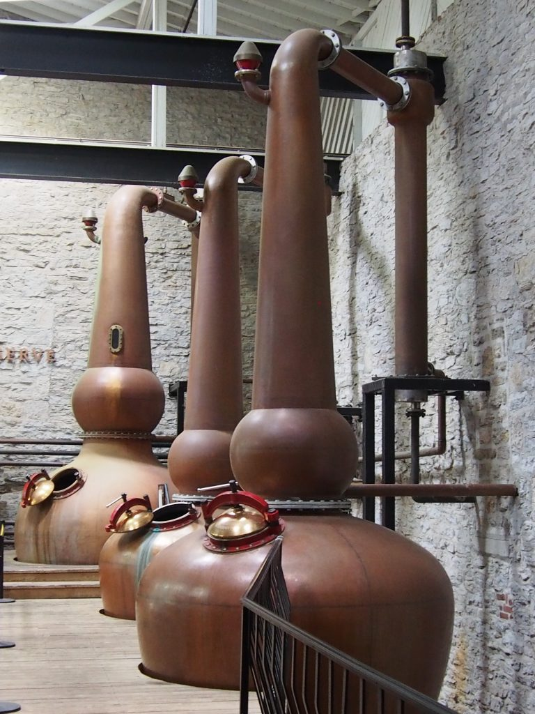 Triple distilling at Woodford Reserve.